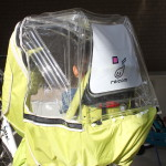 reicom(レイコム)レインカバーAIR Yepp maxi(イエップ)後乗せチャイルドシートに装着