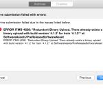 [XCode]ERROR ITMS-4238: Redundant Binary Upload. ビルドがアップ出来ない時の対処法